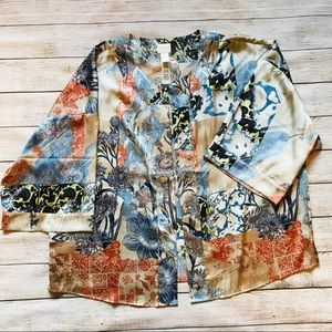 Chico's Collection | Short Kimono Style Blouse